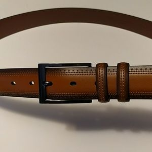 New! Men's Perry Ellis leather belt